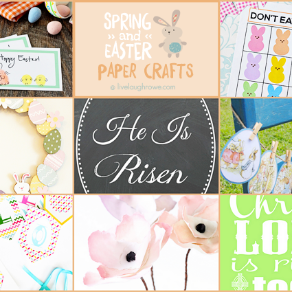 Spring and Easter Paper Crafts at livelaughrowe.com