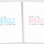 Miracle Baby Quote Printables