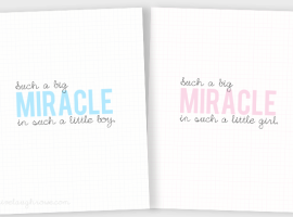 Such a big MIRACLE baby printables with livelaughrowe.com