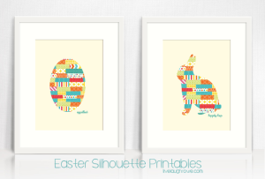 Easter Silhouette Printables