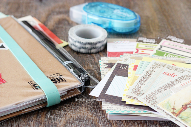 With just a few SMASHing supplies, you are ready to scrapbook as you go on vaction