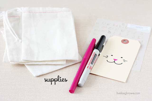 supplies for easter muslin treat bags