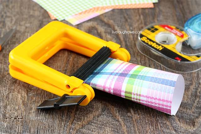 use a paper crimper for a finished look