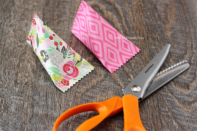 use pinking shears for edges