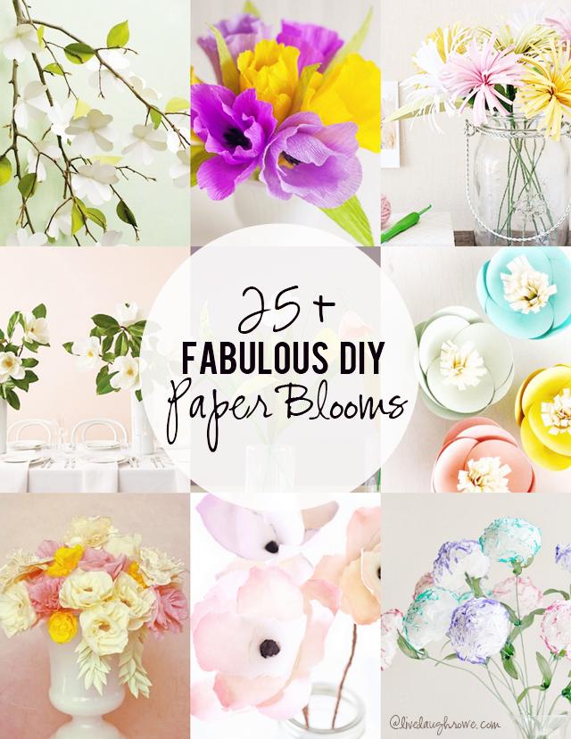 25+ DIY Paper Blooms