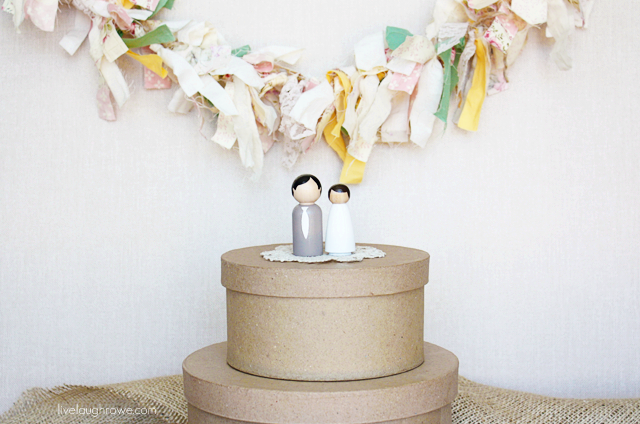 Absolutely Adorable Wooden People Cake Toppers