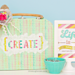 Paper Mache Suitcase |Hazel & Ruby Blog Hop