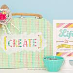 Paper Mache Suitcase |Hazel & Ruby Blog Hop