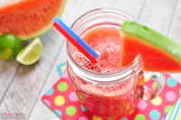 Perfectly summer!  Watermelon Agua Fresca from Five Heart Home for Live Laugh Rowe