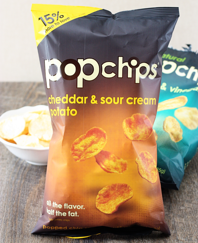 Snack on with popchips
