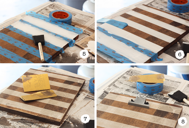 Steps 5-8 DIY Photo Clipboard