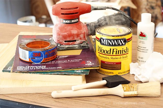 Supplies for DIY Photo Clipboard