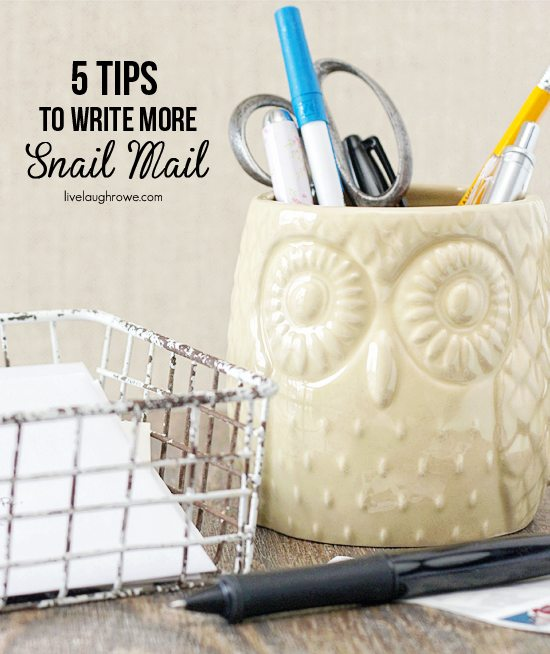 5 Tips to Write More Snail Mail