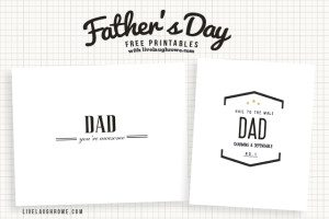 Classic Father's Day Printables