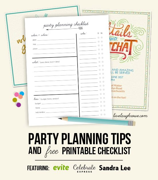 picture relating to Printable Party Planning Checklist known as Celebration Developing Rules Printable Listing - Are living Chuckle Rowe