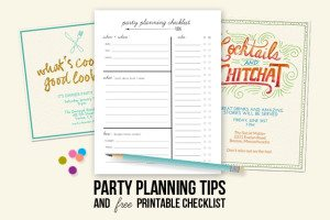 Party Planning Tips & Printable Checklist