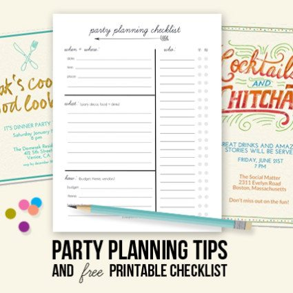 Party Planning Tips and Printable Checklist