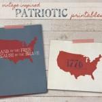 Vintage Inspired Patriotic Printables