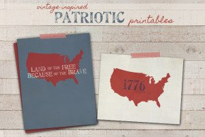 Vintage Inspired Patriotic Printables