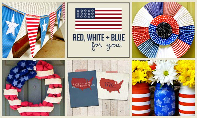 Red, White and Blue Features