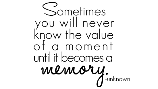 Value of the moment quote