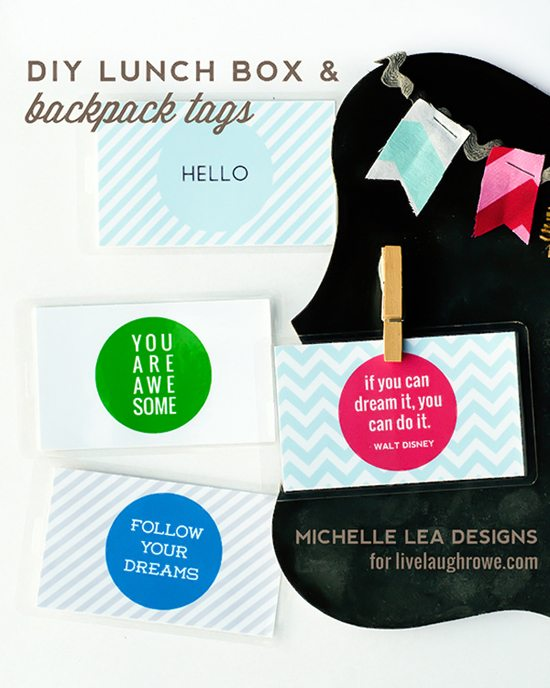 photo about Printable Backpack Tags named Do-it-yourself Backpack and Lunch Box Tags Visitor Posting - Dwell Chortle Rowe