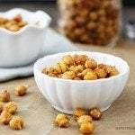 Roasted Garlic Parmesan Chickpeas