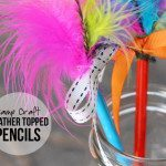 Camp Craft | Feather Topped Pencils