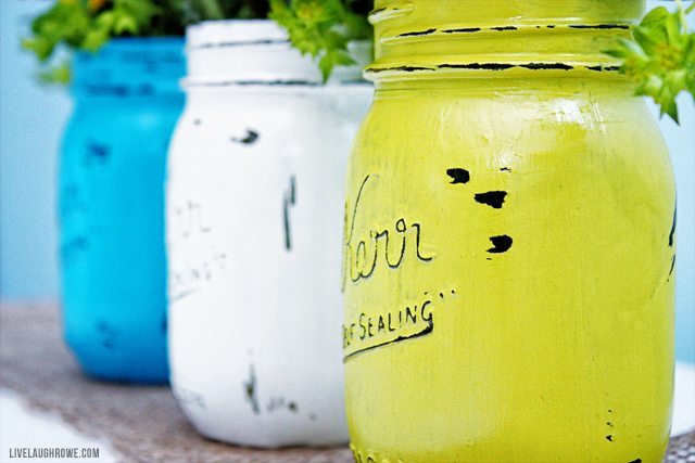 Mason Jar Painting Party fun for the girls!