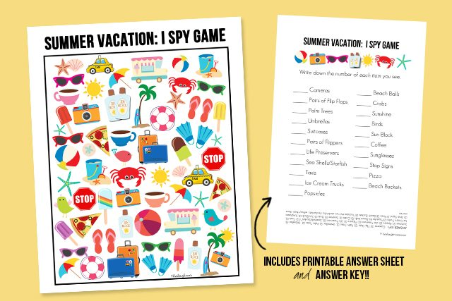 Summer Vacation I Spy Printable Live Laugh Rowe – I Spy Worksheets