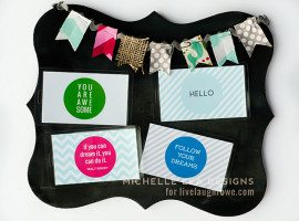 Super fun DIY Lunch Box and Backpack tags! Print and assemble, then attach. Easy breezy!