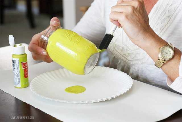 Mason Jar Painting Party