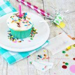 Rainbow Chip Cupcakes | DIY Sprinkle Packets
