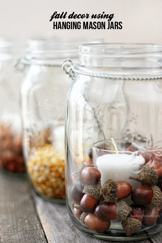 Diy Fall Decor With Hanging Mason Jars Live Laugh Rowe