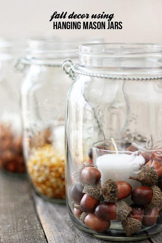fall decor with hanging mason jars live laugh rowe adore diy hanging mason jar