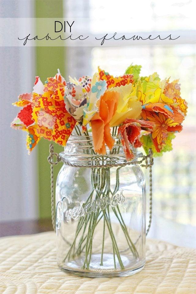 Fabulous DIY Fabric Flowers with livelaughrowe.com