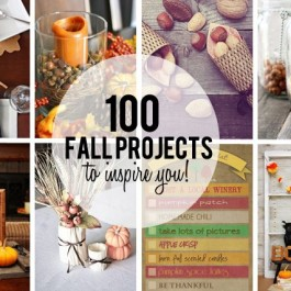 100 Fall Projects to Inspire You this season with you home decor and more! More details at livelaughrowe.com