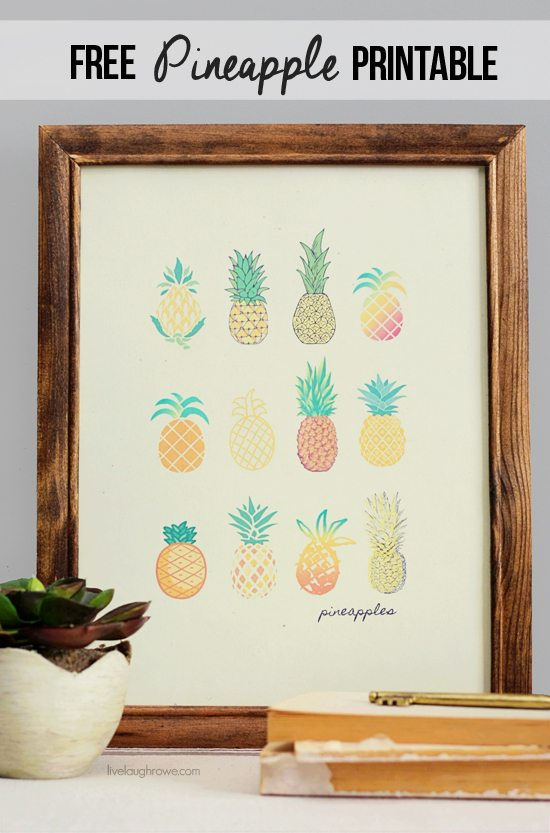 picture relating to Free Printable Pineapple known as No cost Pineapple Printable for the Dwelling - Dwell Snicker Rowe