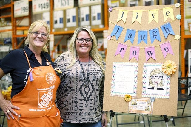 Kim and Kelly with LLR DIH Workshop Ad Board