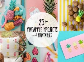25+ DIY Pineapple Projects and Printables for you to enjoy!