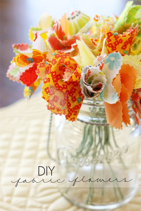 DIY Fabric Flowers - Live Laugh Rowe