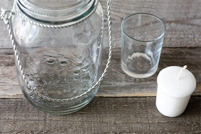 Supplies for DIY Fall Decor using Hanging Mason Jars