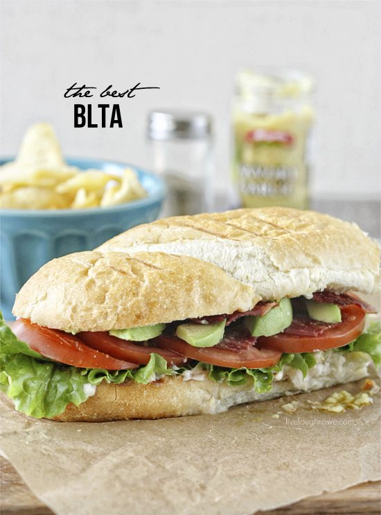 The Best BLTA Sandwich.  The perfect handheld meal that won't leave you hungry! Recipe at livelaughrowe.com
