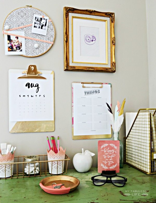 Back to School Organization.  Mini Command Center from MyFabulessLife.com