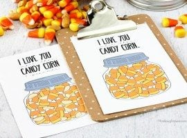 I love you more than.... Candy Corn Printables! Perfectly festive and great for gifting too. www.livelaughrowe.com #candycorn #printable