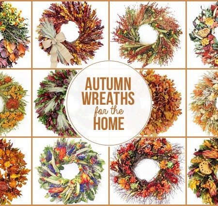 Beautiful Autumn Wreaths for your Home from The Wreath Depot. Learn more at livelaughrowe.com #wreaths