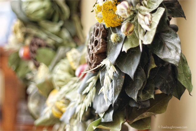 Beautiful Orchard Bounty Wreath from The Wreath Depot. Learn more at livelaughrowe.com