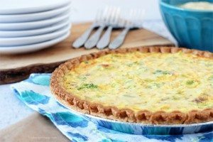 Skinny Broccoli and Cheddar Quiche