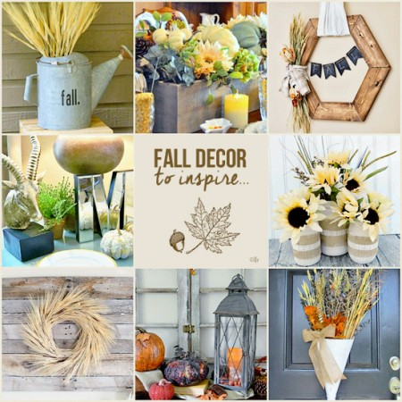 Fall Decor to Inspire featuring YOU! www.livelaughrowe.com