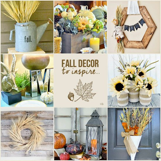 Featuring your fall home decor to inspire others!  www.livelaughrowe.com